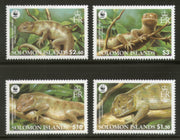 Solomon Islands 2005 WWF Prehinsile-tailed Skink Reptiles Wildlife Animal Sc 1035-38 MNH # 377