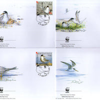 Croatia 2006 WWF Little Tern Birds Wildlife Animal Fauna Sc 621 Set of 4 FDCs # 384 - Phil India Stamps