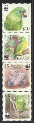 Jamaica 2006 WWF Black-billed Amazon Parrot Birds Wildlife Fauna Sc 1054-57 MNH # 393
