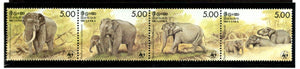Sri Lanka 1986 WWF Ceylonese Elephants Wildlife Animals Fauna Sc 803 MNH # 039 - Phil India Stamps