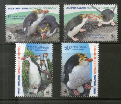Australian Antarctic Territory 2007 WWF Royal Penguin Bird Marine Life Animal Sc 136-39 MNH # 408