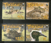 Tokelau 2007 WWF Pacific Golden Plover Birds Wildlife Animal Sc 349-52 MNH # 412