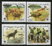Guinea 1987 WWF Wild Dog Wildlife Animal Fauna 4v Sc 1069-72 MNH # 058 - Phil India Stamps