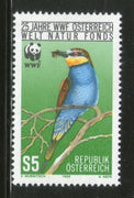 Austria 1988 WWF Bee Eater Birds Wildlife Animal Fauna 1v Sc 1425 MNH # 064 - Phil India Stamps