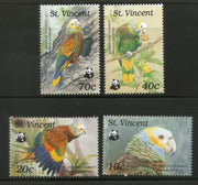 St. Vincent 1989 WWF Amazon Parrot Bird Wildlife Animal Fauna Sc 1184 MNH # 081 - Phil India Stamps
