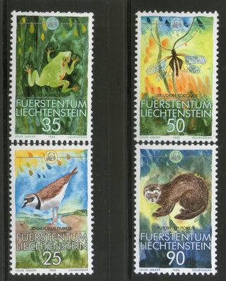 Liechtenstein 1989 WWF Bird Butterfly Wildlife Animal Fauna Sc 907-10 MNH # 083 - Phil India Stamps