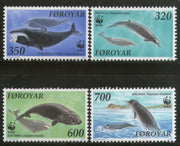Faroe Islands 1990 Whales Fish Marine Life Sc 208-11 Fauna Mammals WWF MNH # 099 - Phil India Stamps