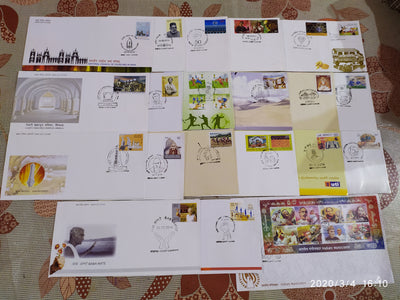 India 2014 Year Pack of 21 FDCs on FIFA Football Music Health Slovenia Joints Issue Sikhism