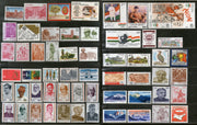 India 1988 Year Pack of 57 Stamps Dental Science Himalayan Peak Mountain Nehru Olympic Wildlife Railway MNH - Phil India Stamps