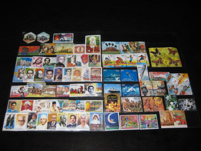 India 2008 Year Pack 79 Stamps Butterfly Cinema Saibaba Ship Christmas Brahmos Hindu Mythology MNH