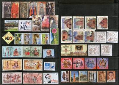 India 2020 Year Pack of 55 Stamps on Mahatma Gandhi COVID-19 Fashion Textile UNESCO Architecture Music Wildlife Terracotta MNH