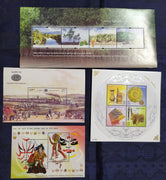 India 2002 Year Pack of 4 M/s on Joints Issue Railway Handicraft Mangroves MNH