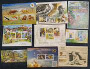India 2015 Year Pack of 9 M/s on Mahatma Gandhi Wildlife Yoga Space Joints Issue MNH