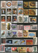 India 1975 Used Year Pack of 42 Stamps Bird Painting Dance Tennis YMCA Sikhism - Phil India Stamps