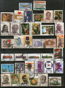 India 1976 Used Year Pack of 37 Stamps Wildlife Military Health Railway Olympic - Phil India Stamps