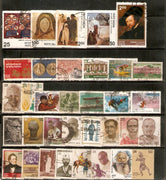 India 1978 Used Year Pack of 34 Stamps Painting Museum Mt. Everest Dance Chaplin - Phil India Stamps