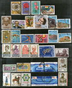 India 1984 Used Year Pack of 33 Stamps Leprosy Olympic Fort Rose Gandhi Space - Phil India Stamps