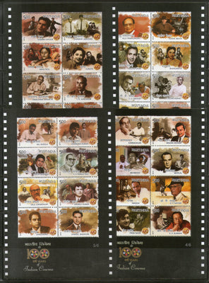 India 2013 100 Years of Indian Cinema Film Movie Art Phila 2875 Set of 6 Sheetlets MNH