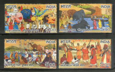 India 2007 Fairs of India Festival Animals Elephant 4v Phila-2252a MNH