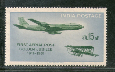 India 1961 Golden Jubilee of First Aerial Post Aeroplanes Phila-351 MNH