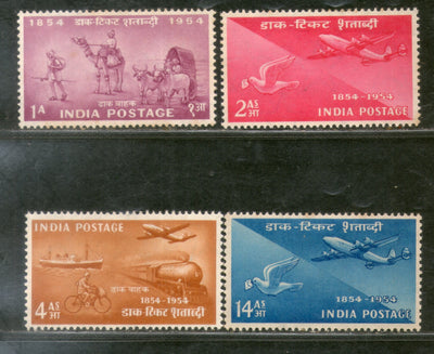 India 1954 Stamp Centenary Mail Airmail Pigeon Post Transport Phila 315a MNH