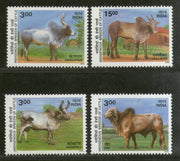 India 2000 Indigenous Breeds of Cattle Phila-1758-61 MNH Pet Animals Agriculture