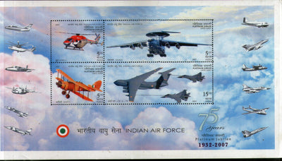 India 2007 Jubilee Indian Air Force Aviation Phila-2438 M/s MNH