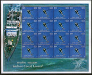 India 2008 Indian Coast Guard Helicopter Phila-2377 Sheetlet MNH