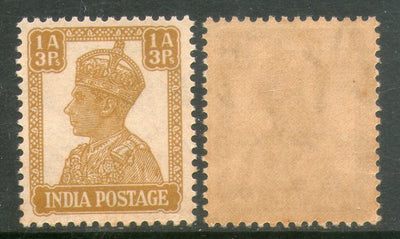 India 1940 King George VI 1An 3ps Postage Stamp Phila-267 1v MNH
