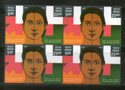 India 2016 UN Women He for She United Nations Joints Issue Se-tenant Blk/4 MNH