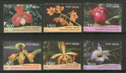 India 2016 Orchids Flowers Plant Tree Flora 6v MNH