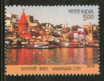 India 2016 Varanasi Holy City River Gagnga Hindu Mythology Temple 1v MNH
