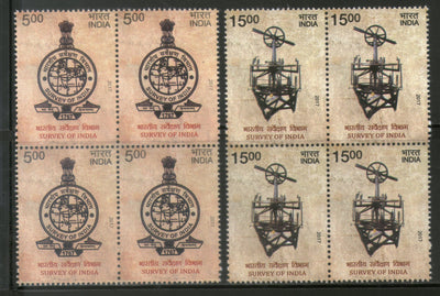 India 2017 Survey of India Map Logo Measuring Instrument 2v Set BLK/4 MNH - Phil India Stamps