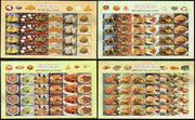 India 2017 Indian Cuisine Regional Festival Foods Meals Set of 4 Diff. Sheetlets MNH