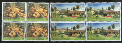India 2018 Coconut Research ICAR Plantation Crops Research Institute Tree 2v BLK/4 MNH - Phil India Stamps