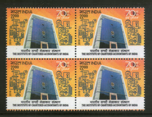 India 2018 The Institute of Chartered Accountants Architecture BLK/4 MNH - Phil India Stamps