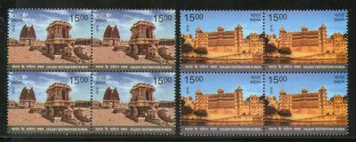India 2018 Holiday Destinations City Palace Udaipur Stone Chariot Hampi BLK4 MNH