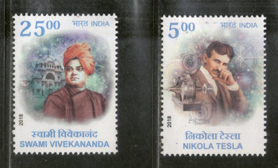 India 2018 India Serbia Joints Issue Nicola Tesla Swami Vivekananda 2v MNH