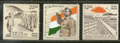India 2018 First Flag Hoisting at Port Blair Subhas Chandra Bose 3v Set MNH