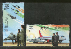 India 2019 Aero India Aircraft Flag Parachute Women in Aviation 2v MNH