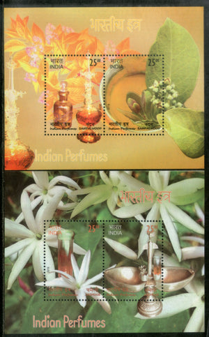 India 2019 Indian Perfumes Sandalwood & Jasmine Flower Fragrance Stamps M/s MNH