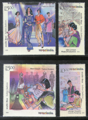 India 2019 Indian Fashion Concept to Consumer Costumes Culture Textile 4v MNH