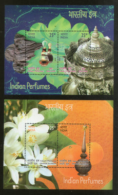 India 2019 Indian Perfumes Agarwood Orange Blossom Flower Fragrance Stamps M/s MNH