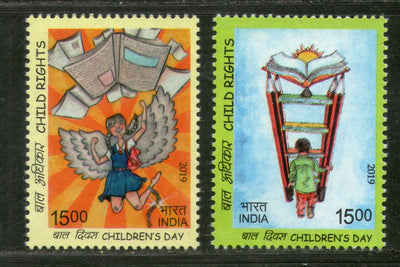 India 2019 Child Rights Children's Day Painting 2v MNH