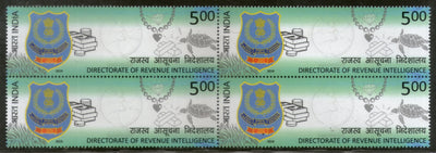 India 2019 Directorate of Revenue Intelligence BLK/4 MNH