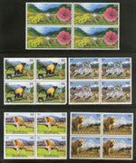 India 2020 UNESCO World Heritage Site Wildlife Animals Tiger Langur Monkey Bear Flowers 5v BLK/4 MNH