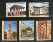 India 2020 UNESCO World Heritage Site III Cultural Architecture 5v MNH