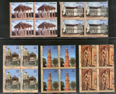 India 2020 UNESCO World Heritage Site III Cultural Architecture 5v BLK/4 MNH