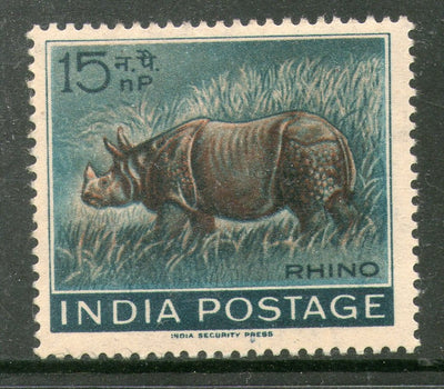 India 1962 Wildlife Week Indian Rhinoceros Animal Phila-376 MNH