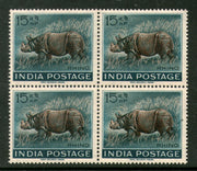 India 1962 Wildlife – Rhinoceros Animal Fauna Phila-376 BLK/4  MNH